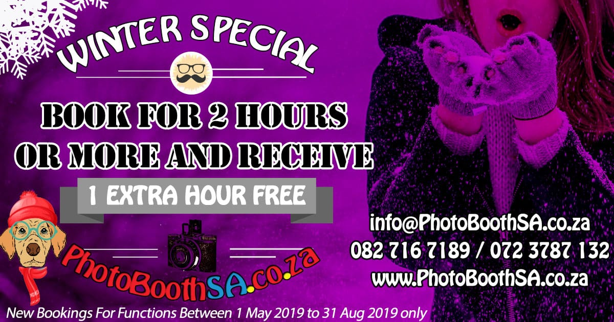 Photo Booth SA Winter Specials